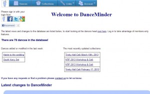 DanceMinder-Main-Page