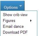 Danceminder dance dropdown